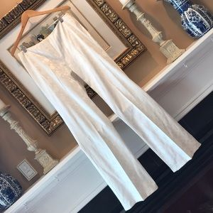 Elegant Circular Patterned Cream Pants (tall girl)